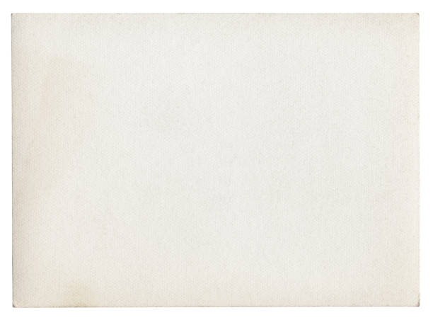 Blank white paper isolated stock photo