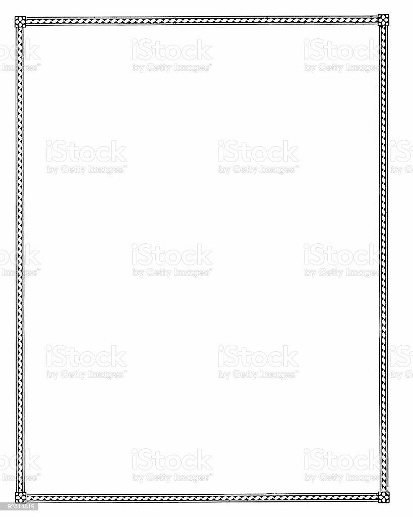 Blank white paper - plain royalty-free stock photo
