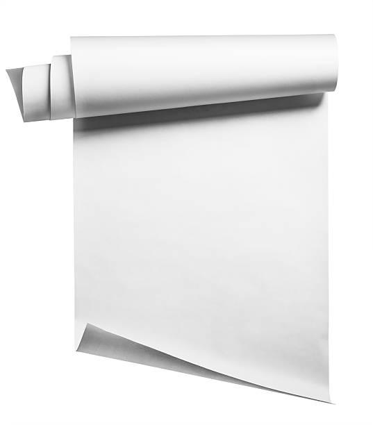 papier roll, isoliert - papierrollen stock-fotos und bilder