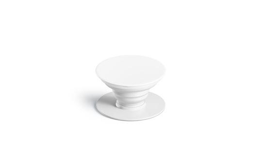 Blank white phone phone grip mock up, isolated