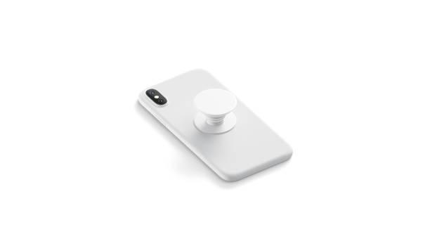 blanke weiße telefon-pop-steckdose auf mobilen mock up geklebt, - popmusiker stock-fotos und bilder