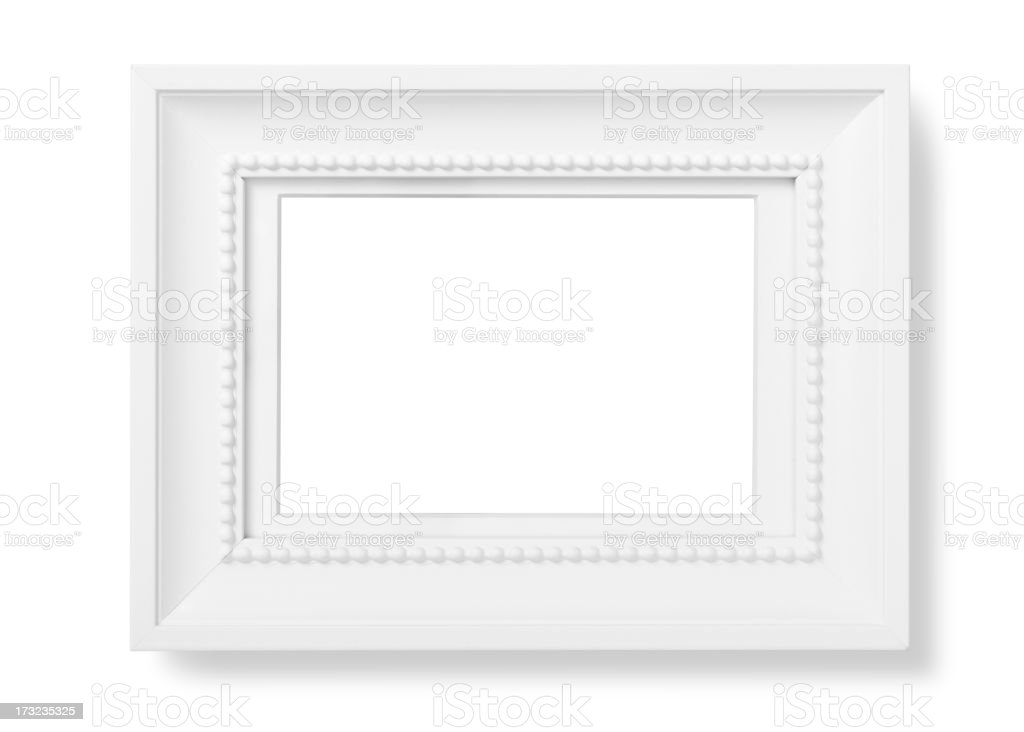 Blank white picture frame royalty-free stock photo