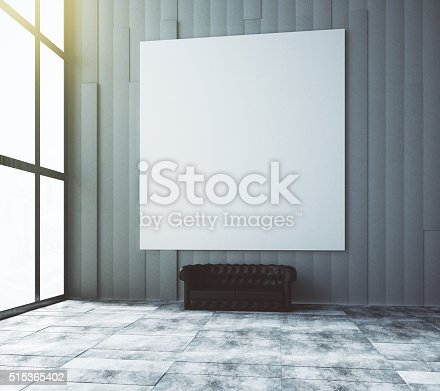 istock Blank white picture on the wall in the room 515365402