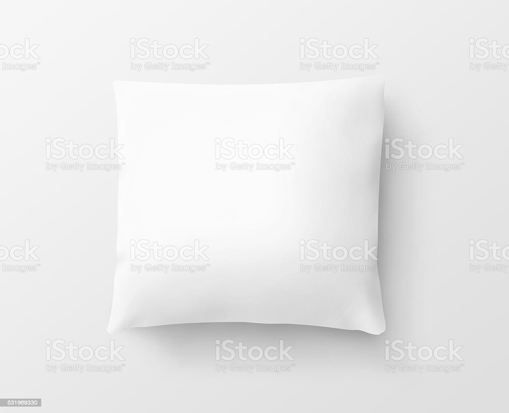 Blank white pillow case design mockup, isolated, clipping path, 3d stock photo