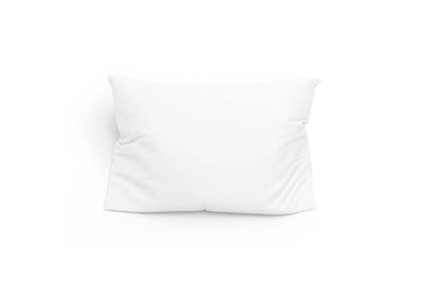 blank white pillow mockup, isolated, top view - подушка стоковые фото и изображения
