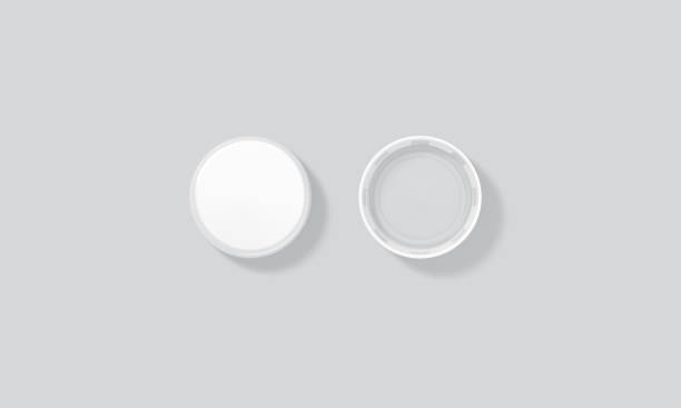 blank white plastic bottle caps mock up set isolated, top - plastic cap stock pictures, royalty-free photos & images