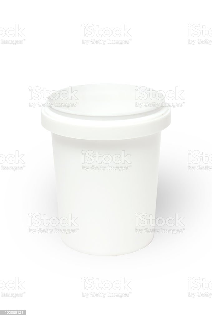 Blank white plastic fastfood cup royalty-free stock photo