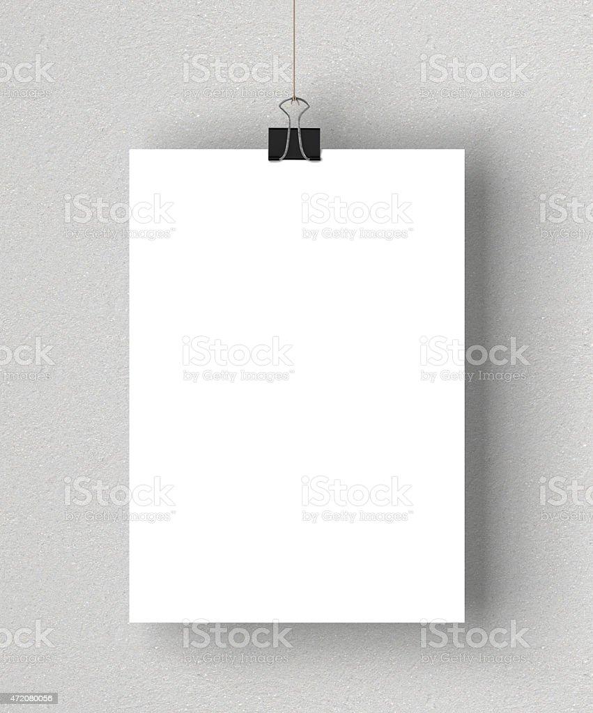 Blank white poster stock photo