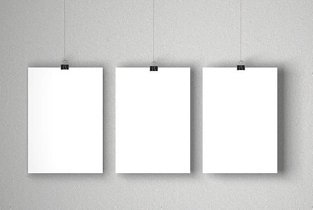 leere weiße poster - bilder poster stock-fotos und bilder