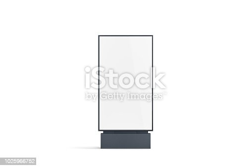 istock Blank white pylon mockup, front view, isolated 1025966752