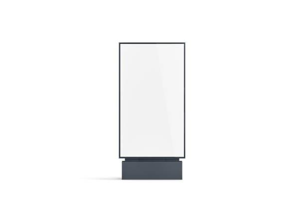 空白白塔樣機, 前視圖, 隔離 - 垂直構圖 個照片及圖片檔