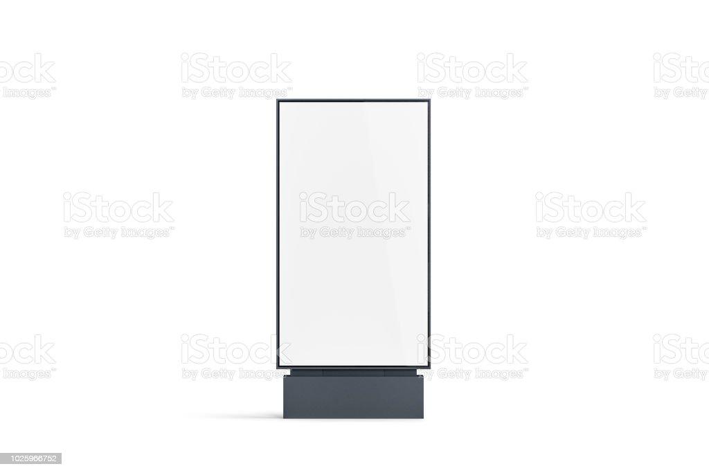 Blank white pylon mockup, front view, isolated stock photo