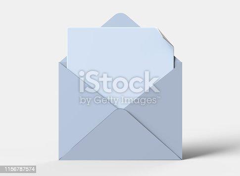 istock Blank white realistic baronial envelopes 1156787574