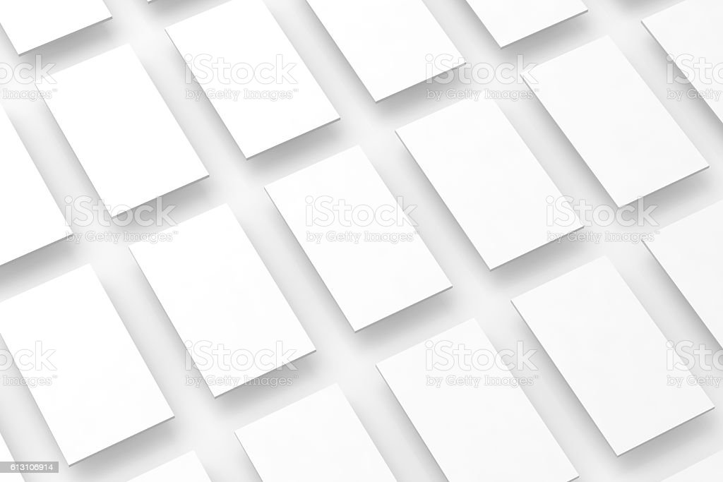 Blank white rectangles field for web site design mockup, clipping stock photo