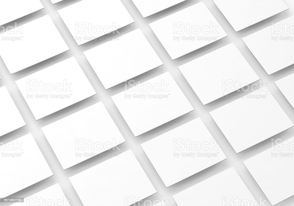 Blank white rectangles field for web site design mockup - Photo