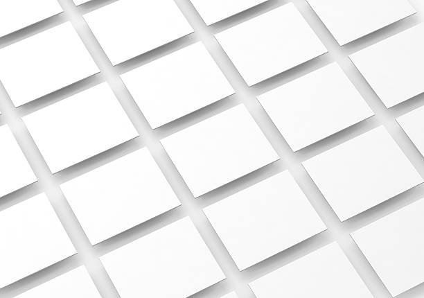 blank white rectangles field for web site design mockup - diminishing perspective stock photos and pictures