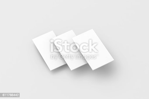 istock Blank white rectangles for phone screen web site design mockup 611766442