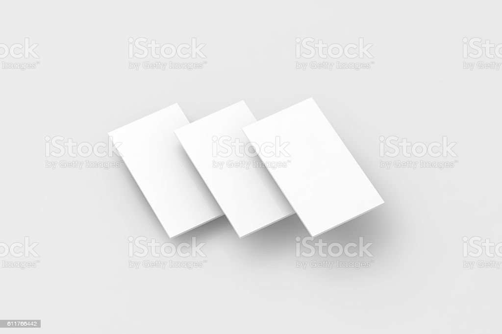 Blank white rectangles for phone screen web site design mockup stock photo