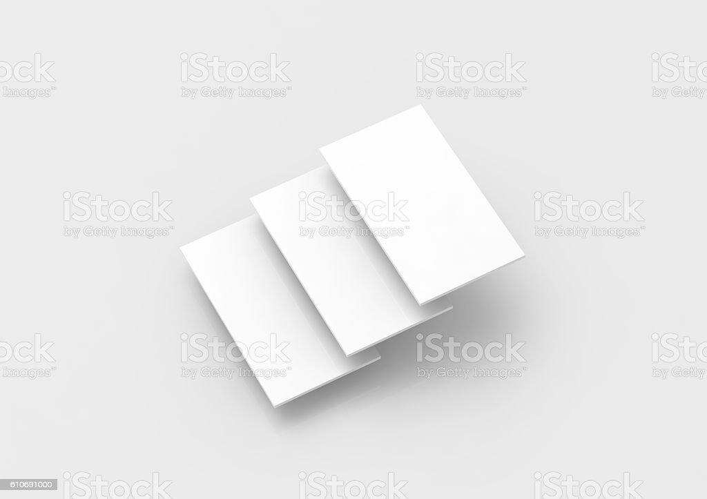 Blank white rectangles for web site design mockup stock photo