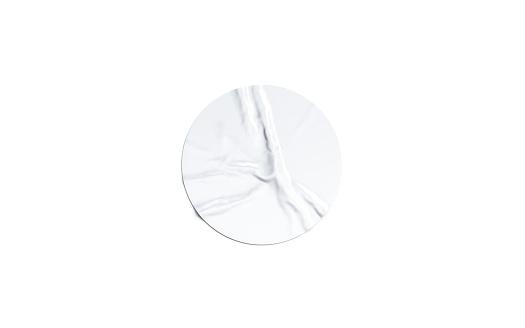 Leere Weiße Runde Klebeaufkleber Mockup Isoliert Stockfoto und mehr Bilder von Abzeichen