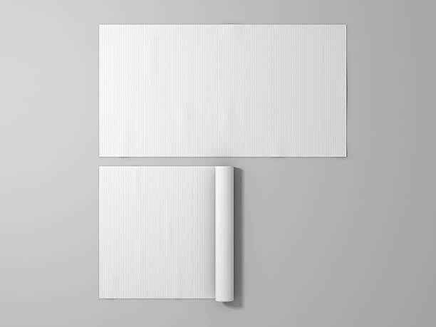Blank white rubber sport mat mockup, isolated stock photo