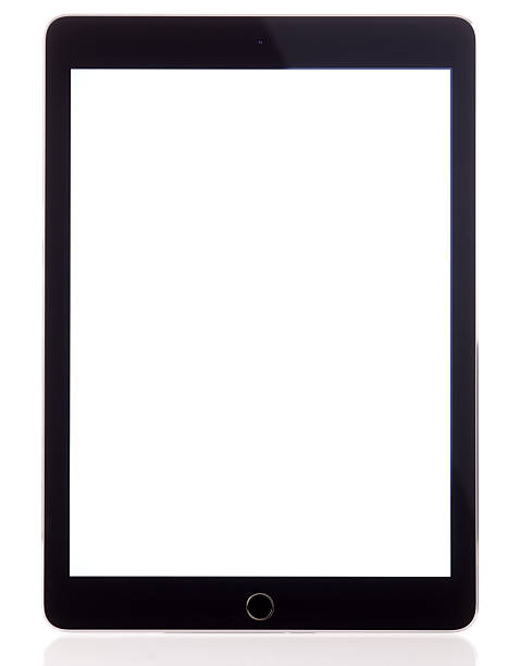 blank white screen apple ipad air 2 - tablet stock photos and pictures