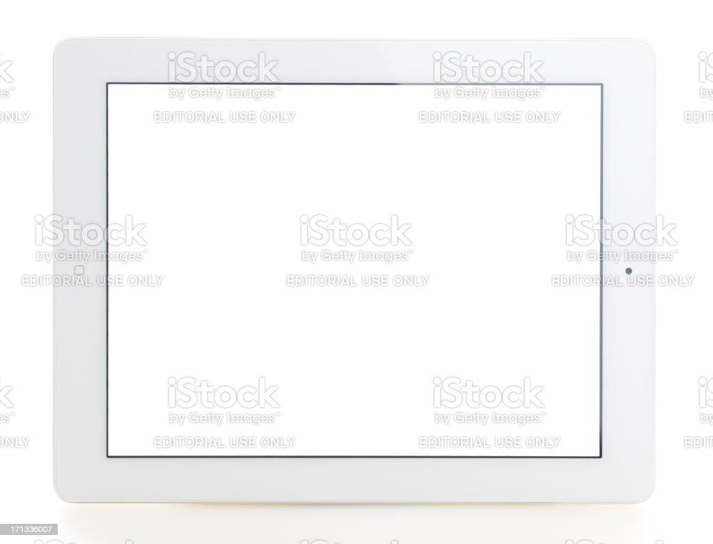 Blank white screen iPad 3 royalty-free stock photo