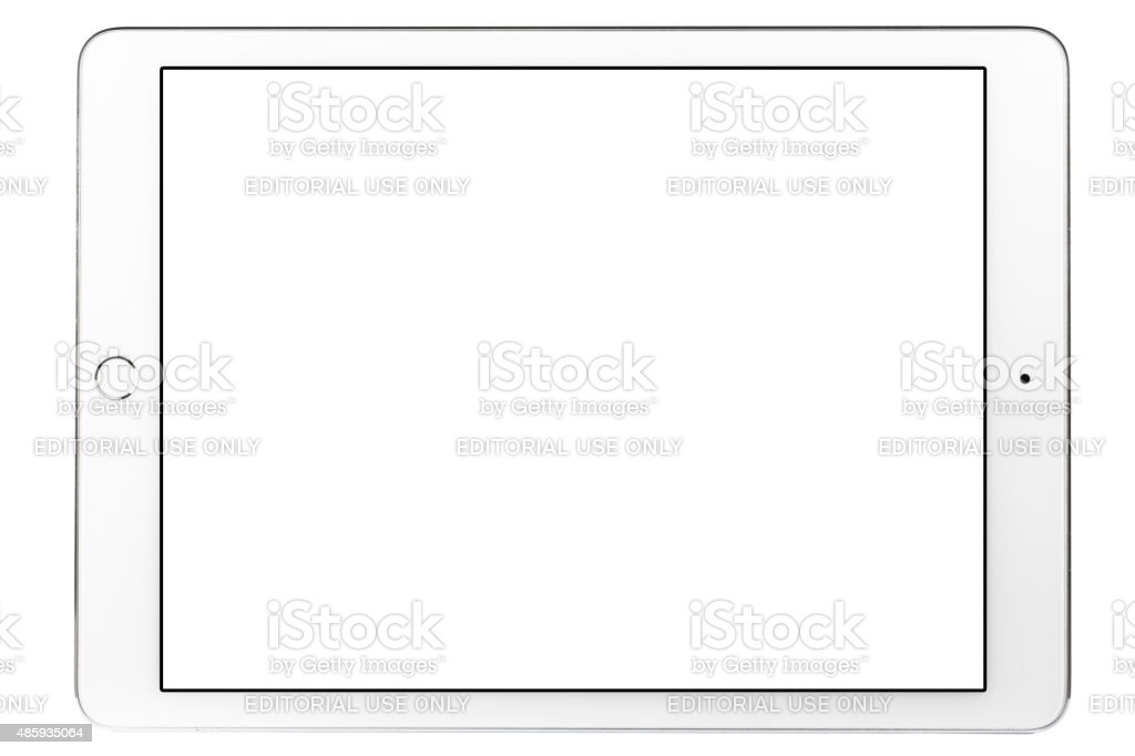 Blank White Screen iPad Air 2 stock photo