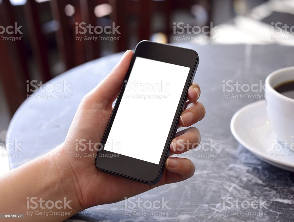 Leere weiße Bildschirm Smartphone Lizenzfreies stock-foto