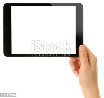 928855610istockphoto Blank white screen tablet pc 174811982