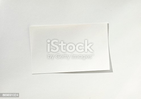 istock Blank White sheet of paper on paper 869691024