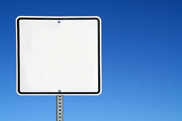 blank white sign - road signs stock photos and pictures