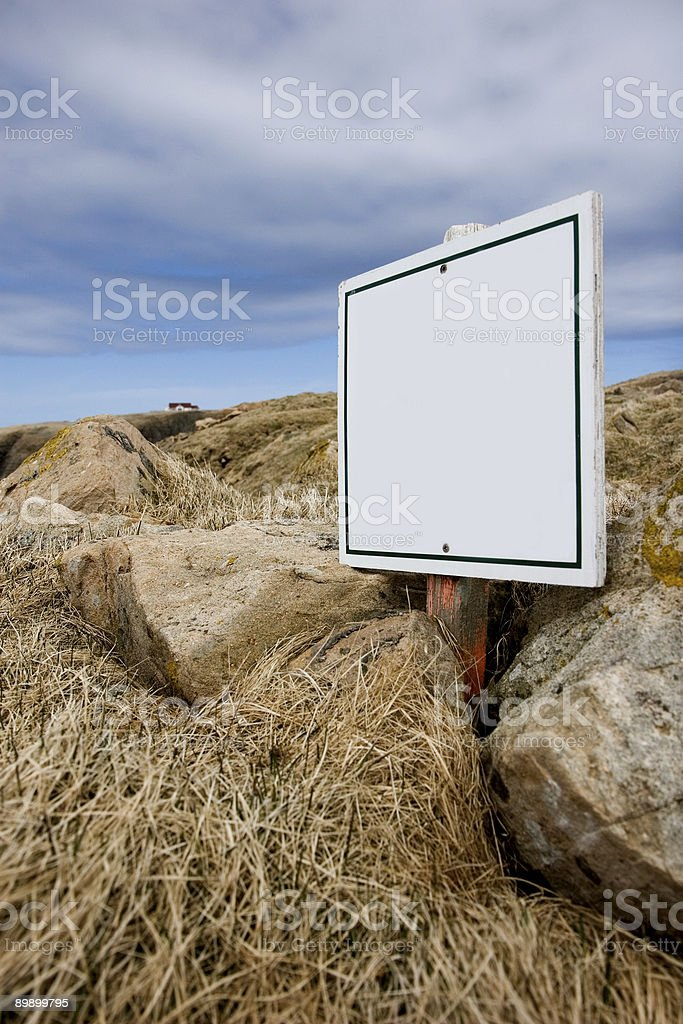 Blank white sign royalty-free stock photo