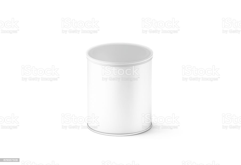 Blank white small carton cylinder box mockup, isolated stock photo