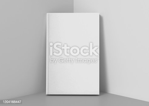 Blank White Soft Cover Book Mockup, 3d Rendering isolated on light background, ready for your design