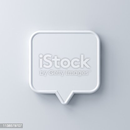 1125351850istockphoto Blank white speech bubble pin isolated on white background with shadow 1138579707