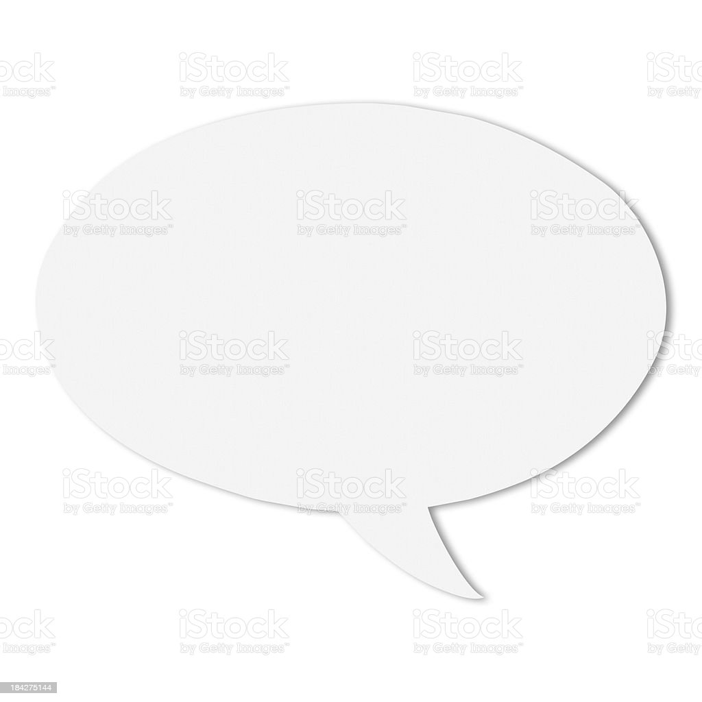 Blank White Speech Bubbles stock photo