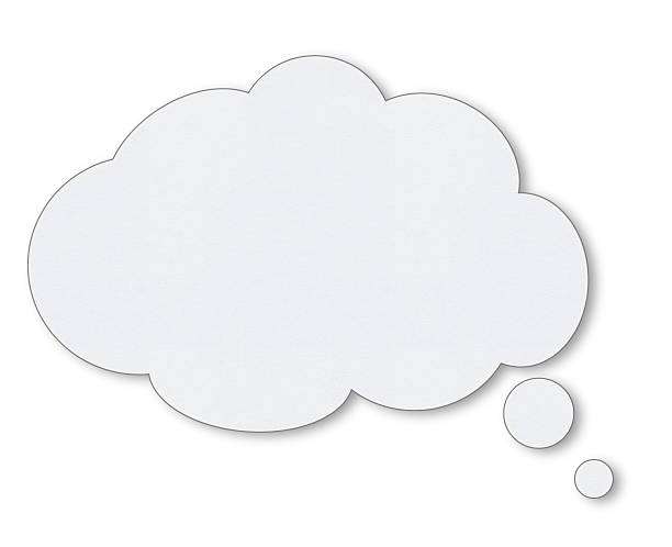 blank white speech bubbles - thought bubble stock photos and pictures