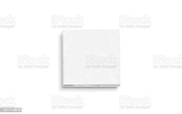 Blank white square folded napkin mock up isolated picture id1077119010?b=1&k=6&m=1077119010&s=612x612&h=qf3jackpdlect0yypdiuohk26rg6e5ic5rxllc2eavg=
