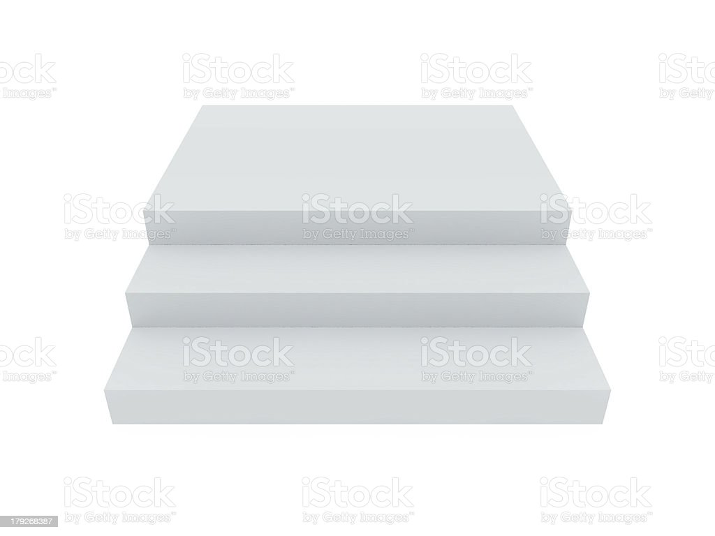 Blank White Stairs royalty-free stock photo