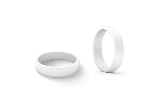 istock Blank white torus shape mockup set, 3d rendering 626421596