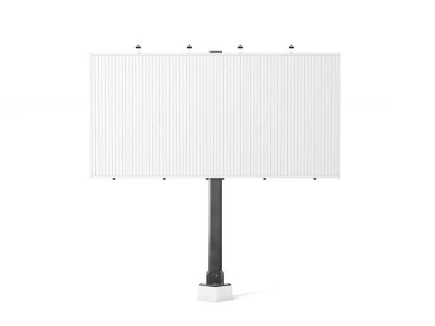 leere weiße trivision plakatwand mockup, 3d-rendering - trennungssprüche stock-fotos und bilder