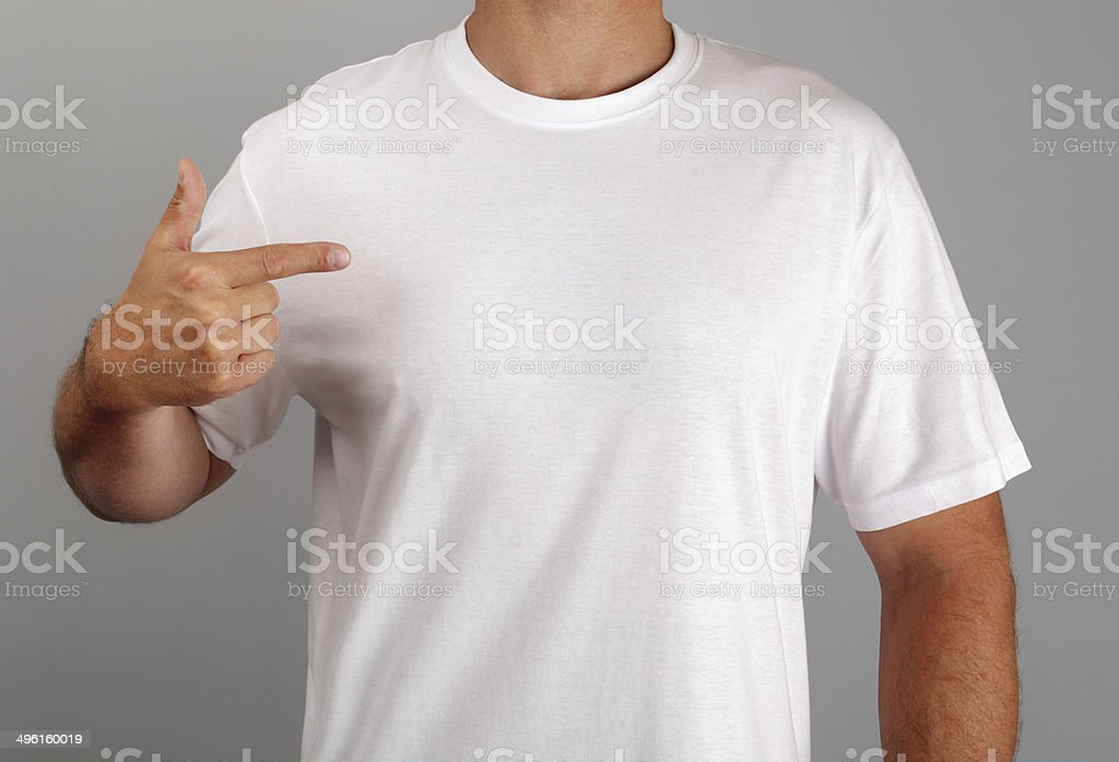 Blank white t-shirt stock photo