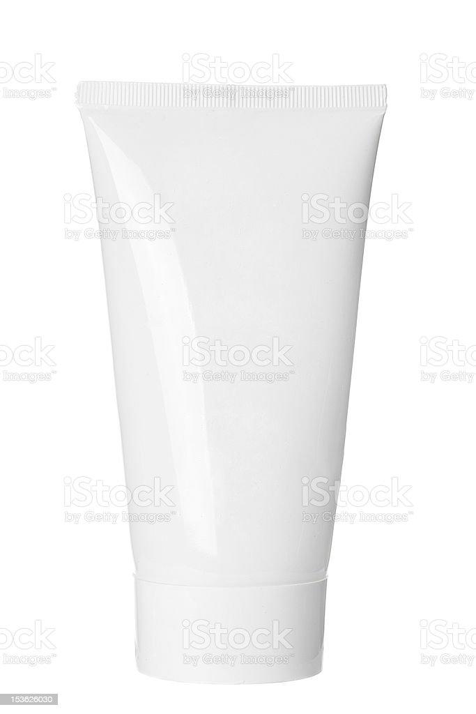 Blank White Tube stock photo