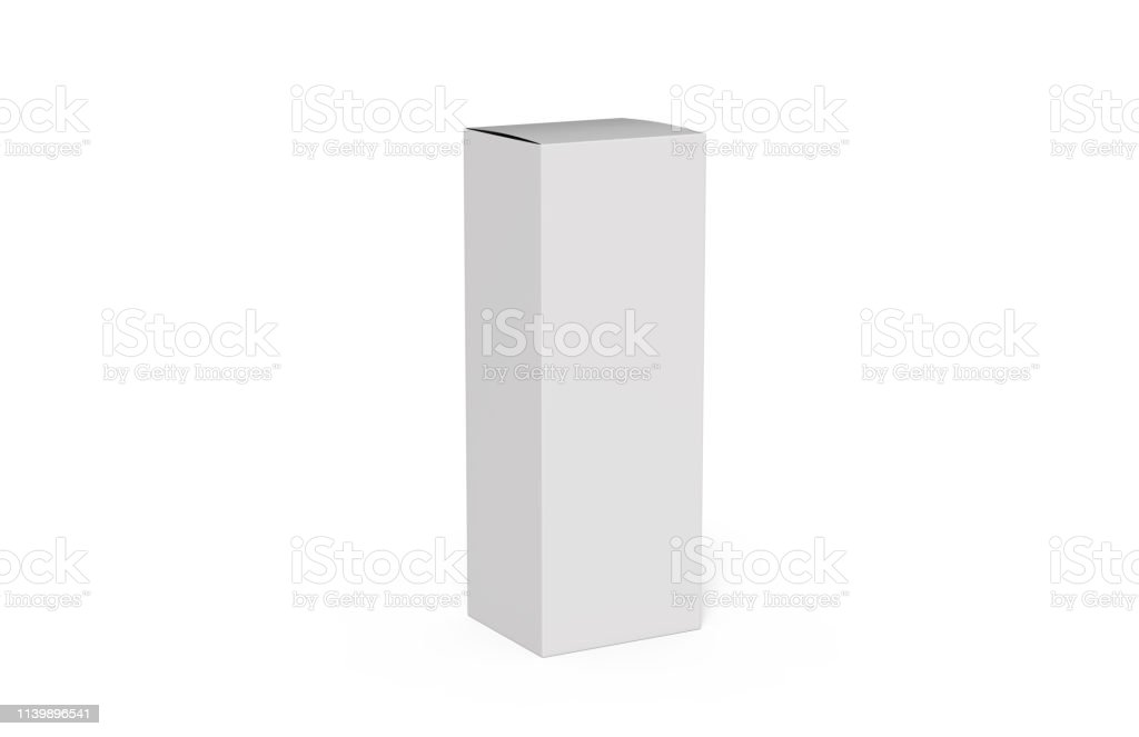 Blank White Vertical Packaging Box For Perfume Tea Medicine Tooth