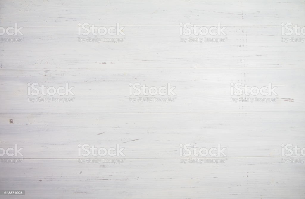 Blank white wooden background. Space for your text stock photo