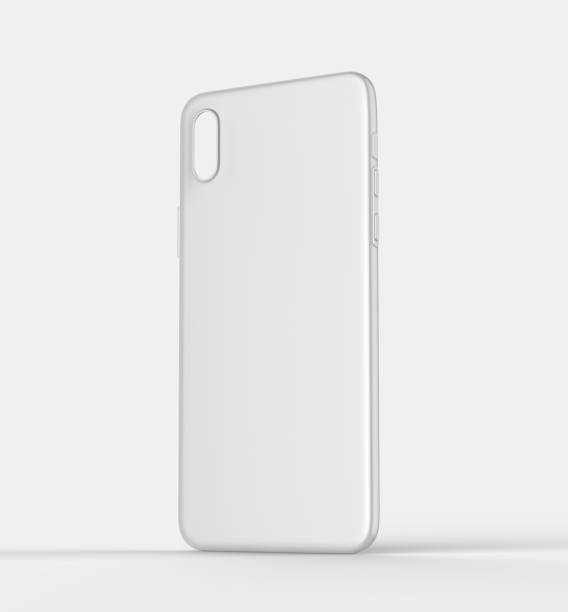 Blank white x smart phone mobile back cover or case for design template mock up design. 3d illustration - Stock image stock photo