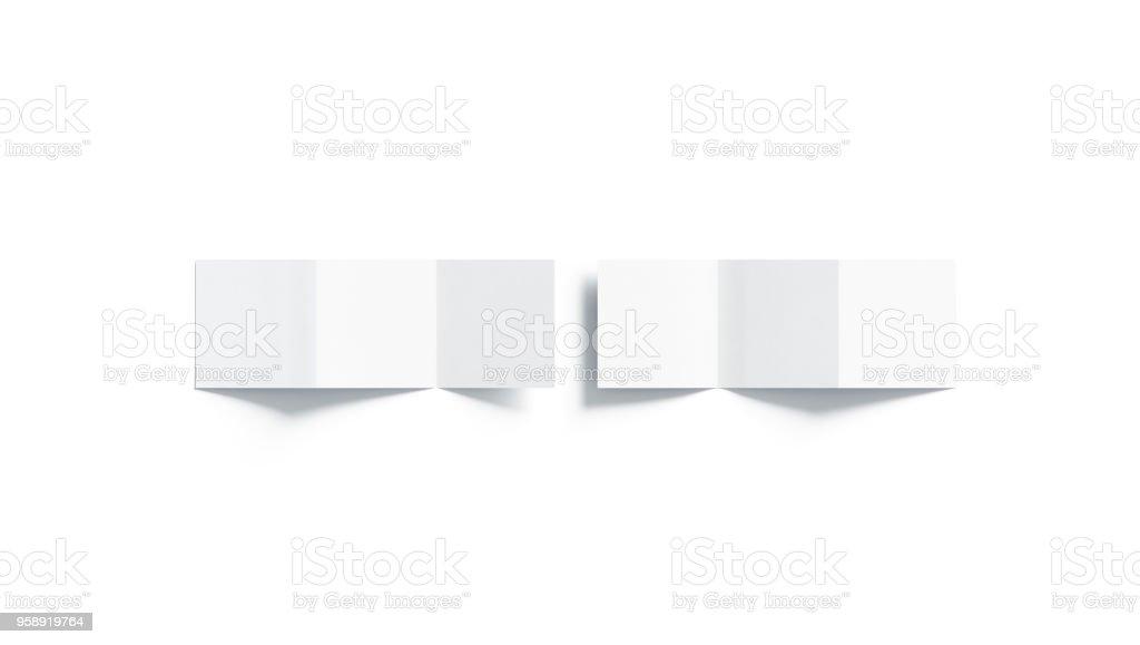 Leere weiße Z-Faltung Broschüre mock-up, Ansicht von oben – Foto