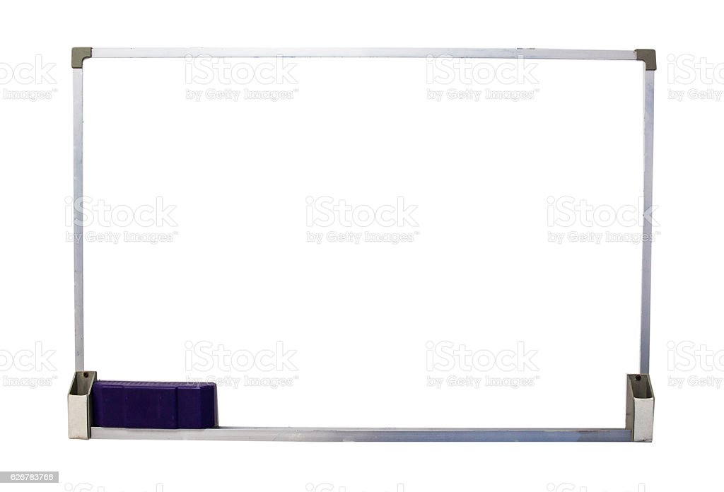 Blank Whiteboard isolate on white - foto de stock