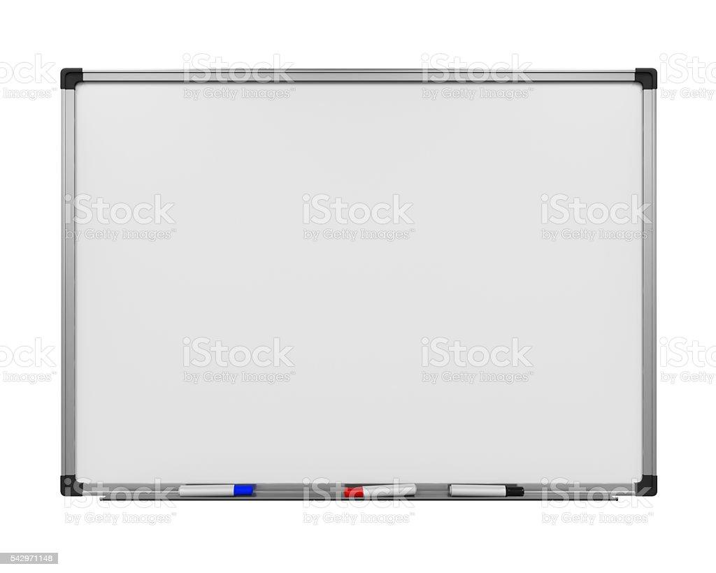 Blank Whiteboard Isolated stock photo